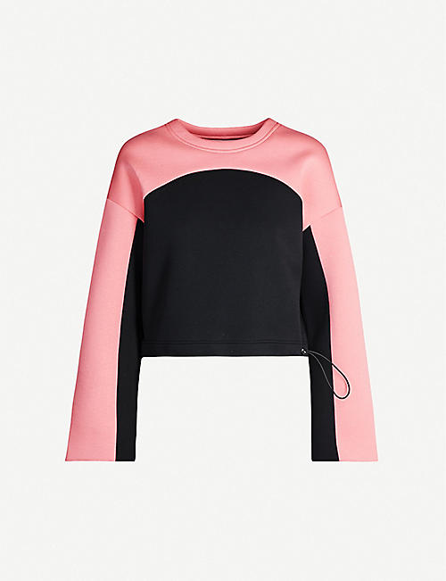SHOREDITCH SKI CLUB Cutler contrast-panel cotton-jersey sweatshirt