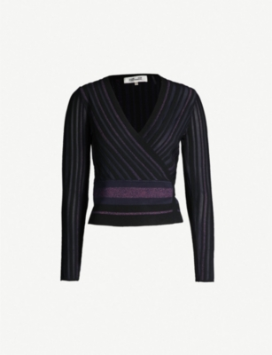 DIANE VON FURSTENBERG Laren stretch-knit wrap top