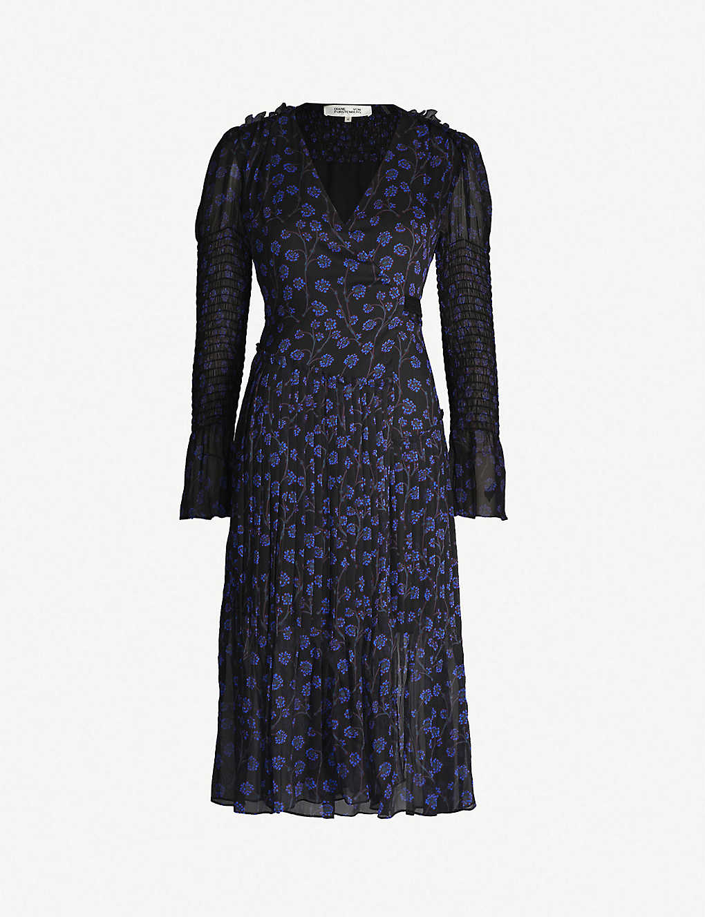 c481977bcc DIANE VON FURSTENBERG - Ani silk wrap dress | Selfridges.com