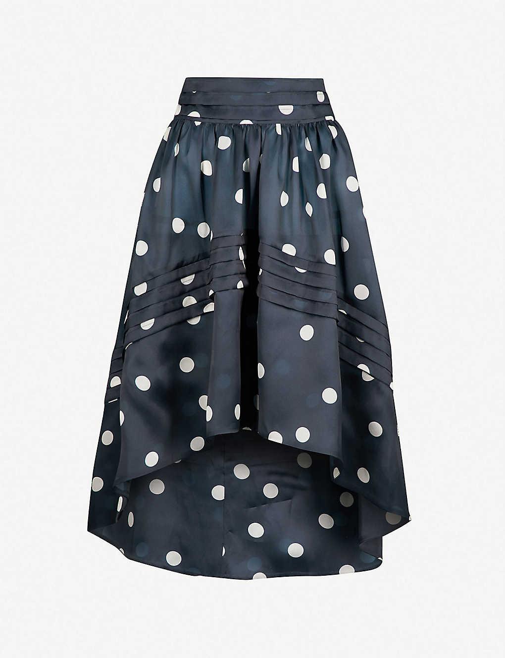 0fa3b794c0 GANNI - Seneca dropped-hem silk skirt   Selfridges.com