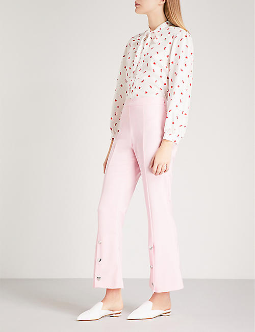 VIVETTA Becco crepe cropped trousers