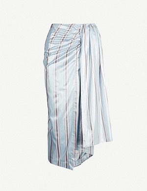 PAPER LONDON Siren striped midi skirt