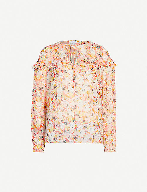 GHOST Bette floral-print chiffon blouse