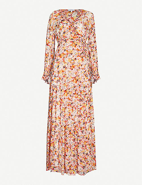 GHOST Jasmine floral-print crepe midi dress