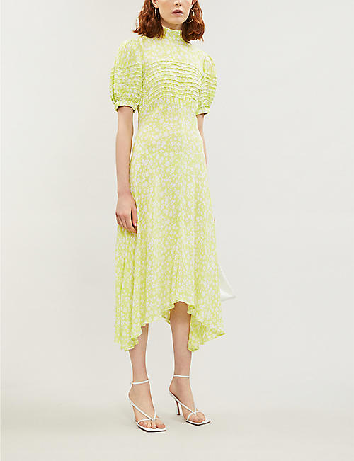 GHOST Jenna crepe midi dress