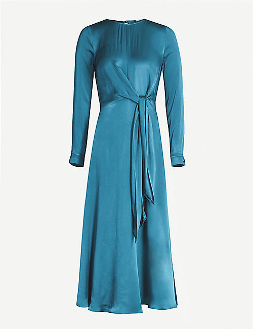 GHOST Mindy satin-crepe dress