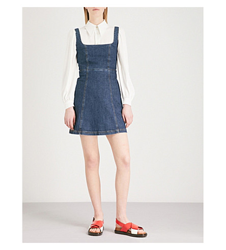 Alexa Chung Denims Cutout back denim mini dress