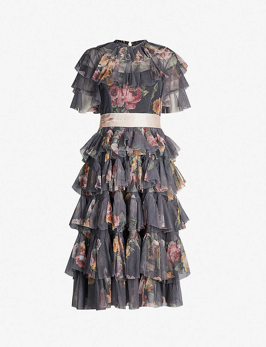3102a6dd07 NEEDLE AND THREAD - Venetian Rose tulle dress | Selfridges.com