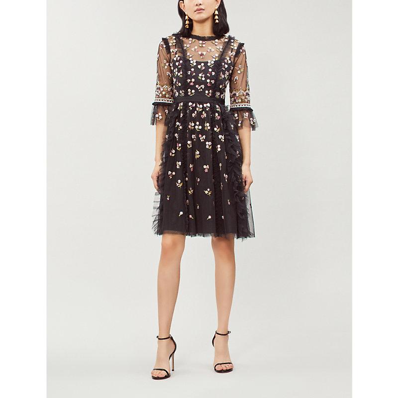 NEEDLE & THREAD | Rococo Ditsy Polka-Dot Tulle Dress | Goxip