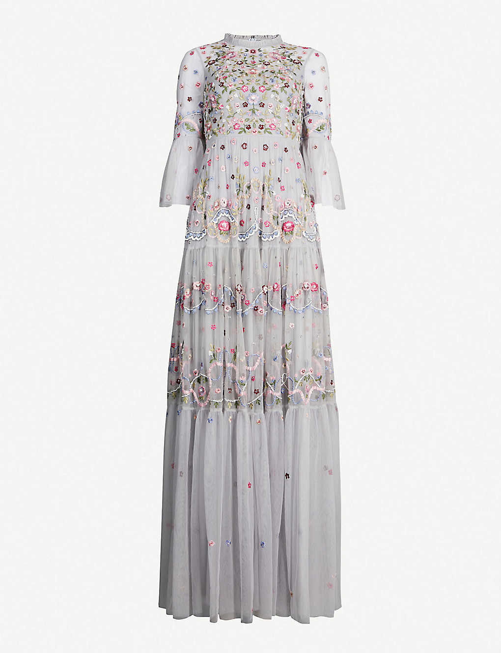 24de021d9cbe NEEDLE AND THREAD - Dreamers floral-embroidered tulle gown ...