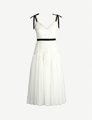 NEEDLE AND THREAD Think of Me sleeveless georgette midi dress