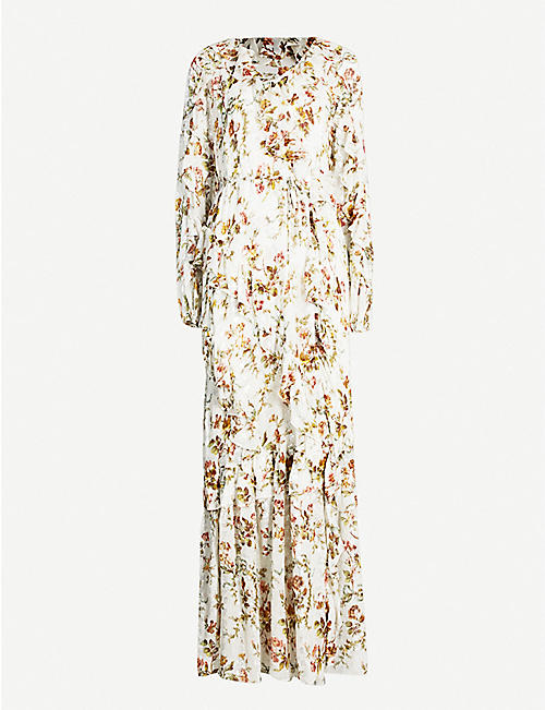 1f38dc1930d NEEDLE AND THREAD Garland Petal floral-print chiffon gown