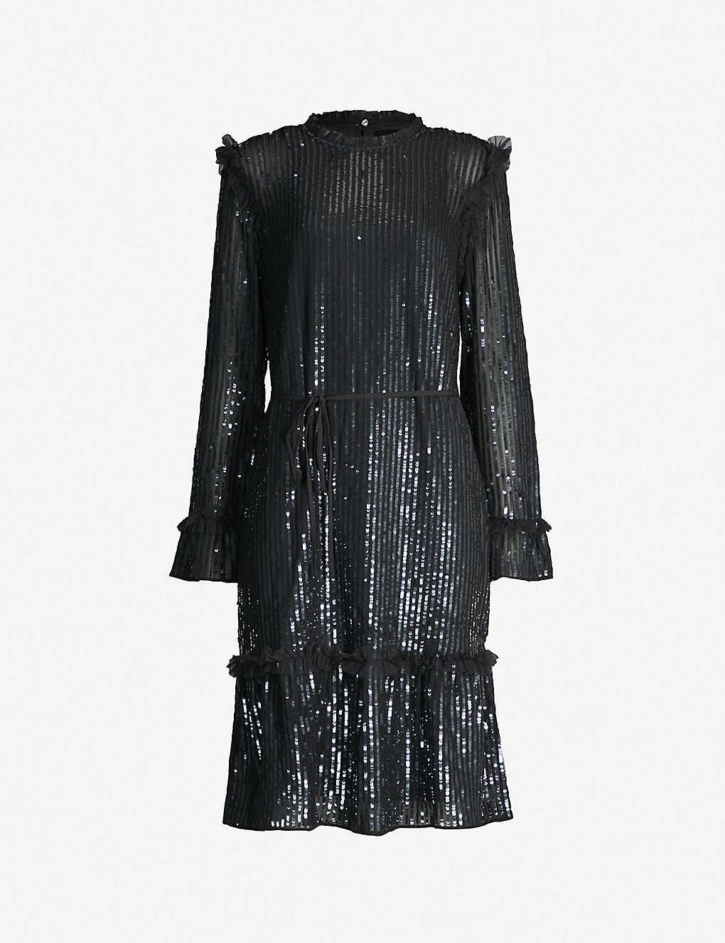 ecfc80bf NEEDLE AND THREAD - Gloss Sequin crepe mini dress | Selfridges.com