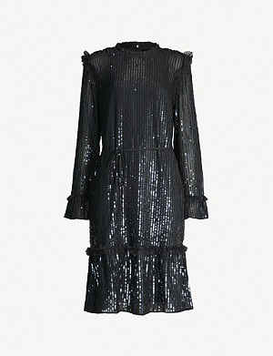 NEEDLE AND THREAD Gloss Sequin crepe mini dress