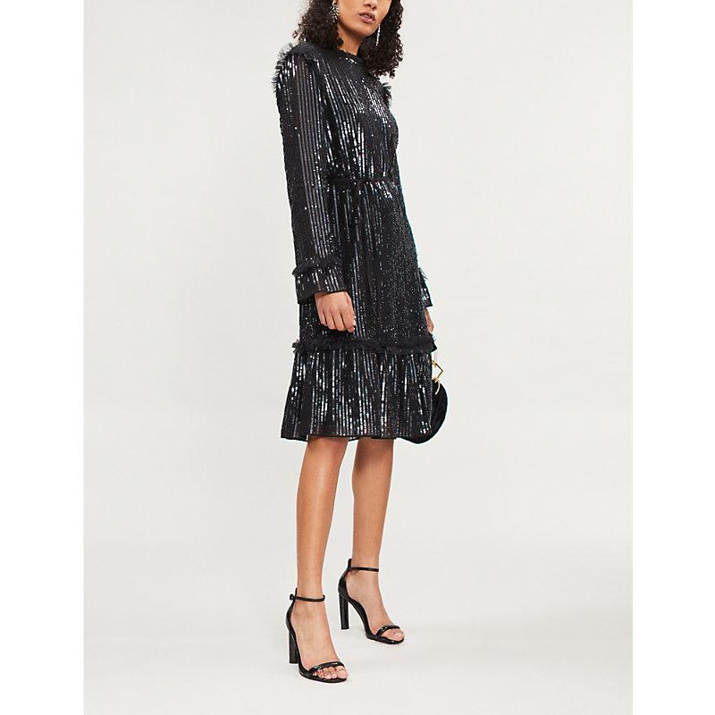 NEEDLE & THREAD | Gloss Sequin Crepe Mini Dress | Goxip