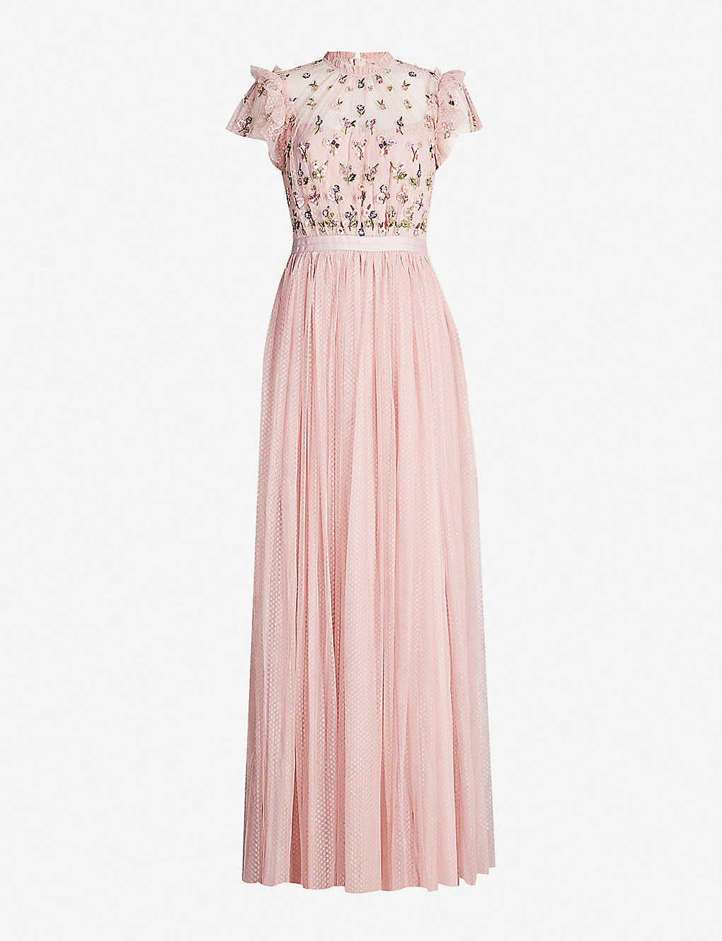 8b1a98f49a6 NEEDLE AND THREAD - Rococo embroidered tulle maxi dress
