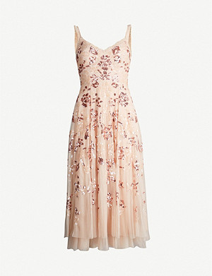 NEEDLE AND THREAD Valentina sequin-embellished tulle midi dress
