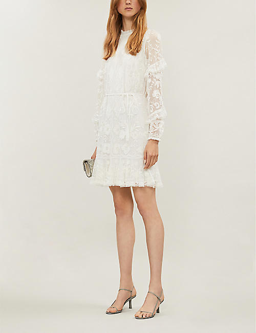 NEEDLE AND THREAD Ellie embroidered tulle and lace dress