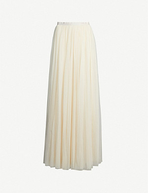 NEEDLE AND THREAD Dotted high-waisted tulle maxi-skirt