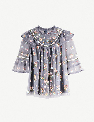 NEEDLE AND THREAD Whimsical chiffon top