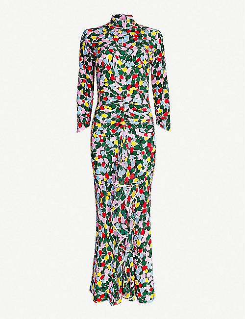 6133a36aca20 RIXO Lucy floral-print silk crepe de chine midi dress