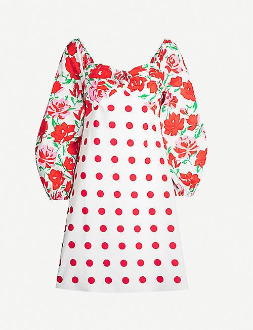 845956e39bee RIXO Rosemarie polka dot and floral-print cotton mini dress