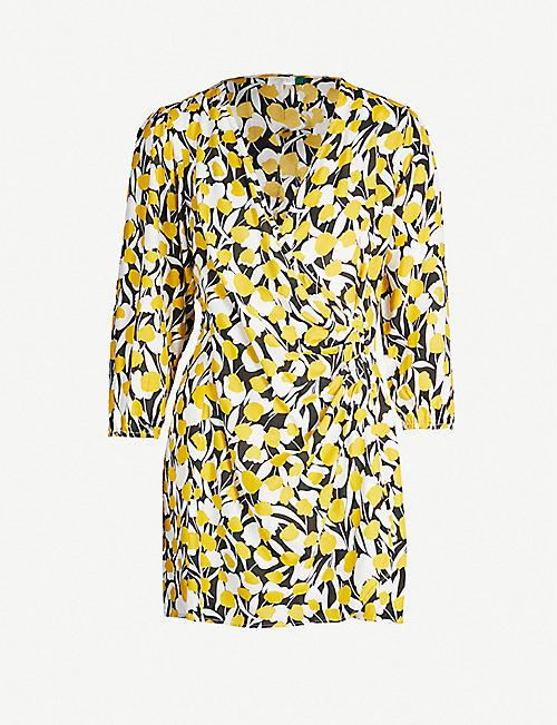 e6241b07a RIXO Sam floral-print cotton and silk-blend mini dress
