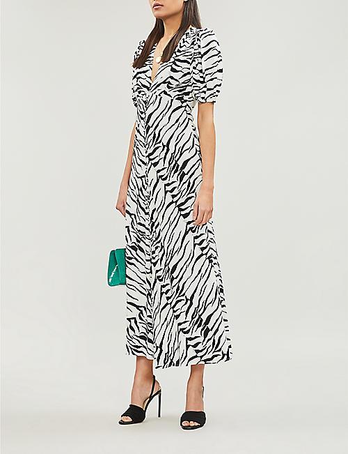 fdd819ca460 RIXO Tonya tiger-print crepe maxi dress