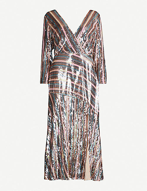 RIXO Tyra sequin-embellished midi dress