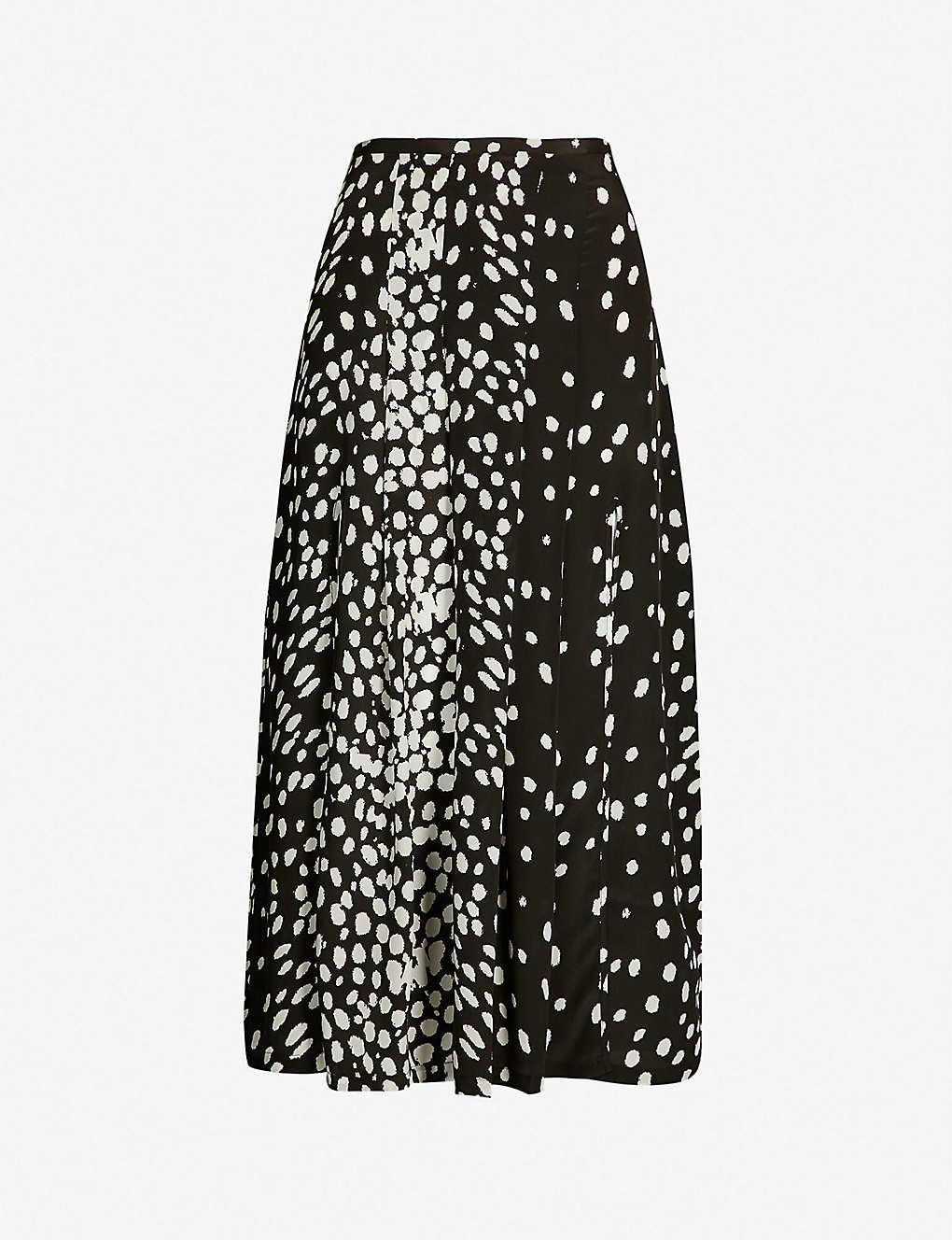 339e8d258a24 RIXO - Georgia geometric-print silk-crepe midi skirt | Selfridges.com