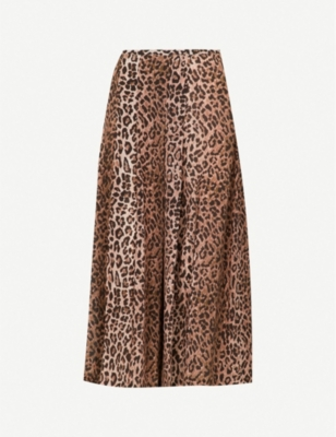 RIXO Georgia high-rise silk skirt