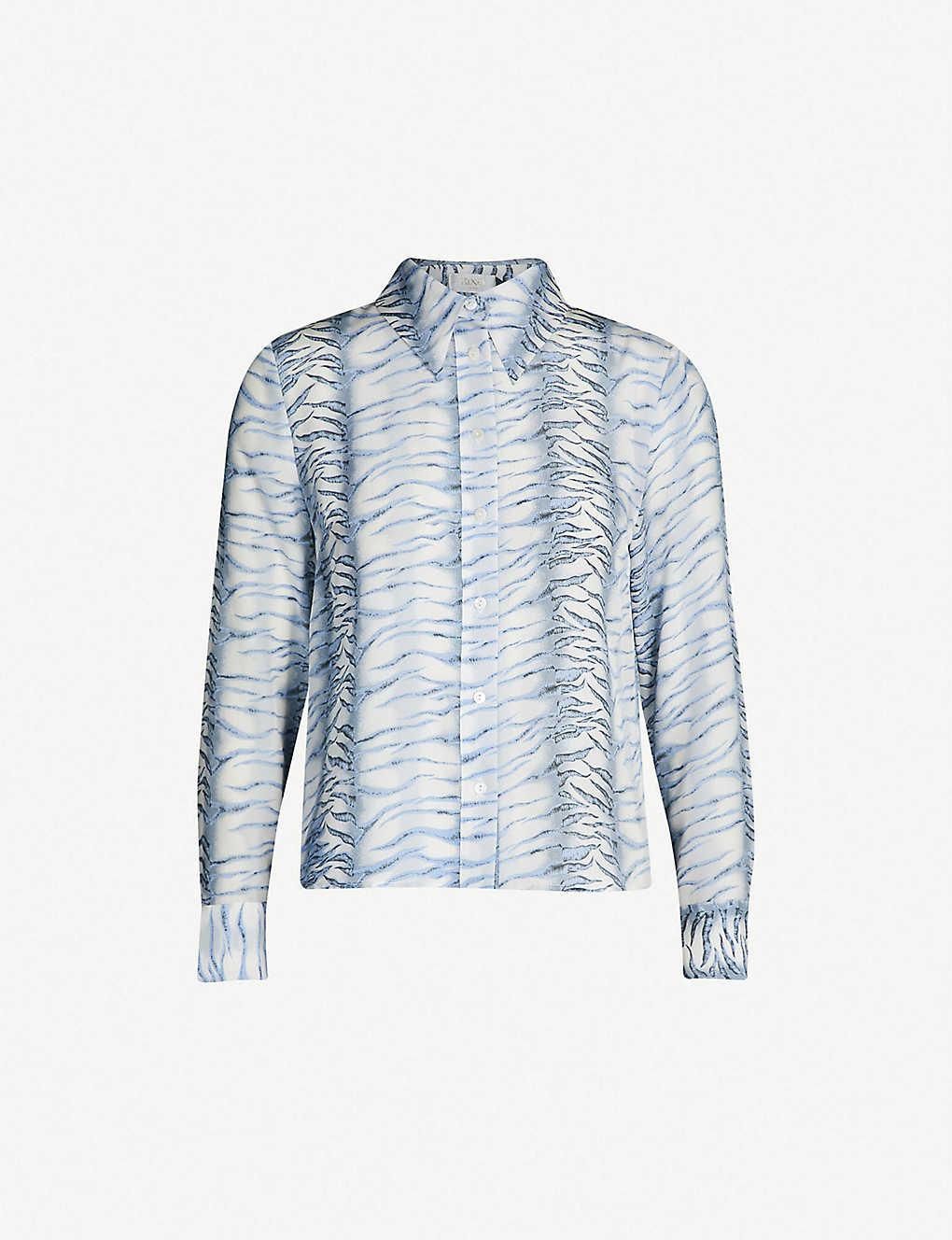 cdbd47c81 RIXO - Jamie tiger-print silk shirt | Selfridges.com