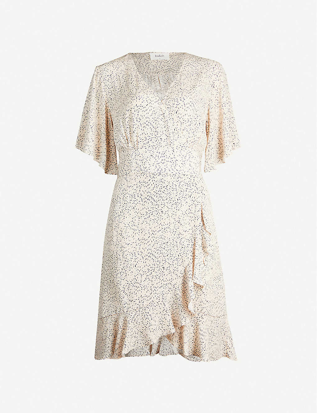 27ed9fef9bfd3 BA&SH - Belinda ruffled crepe mini dress | Selfridges.com
