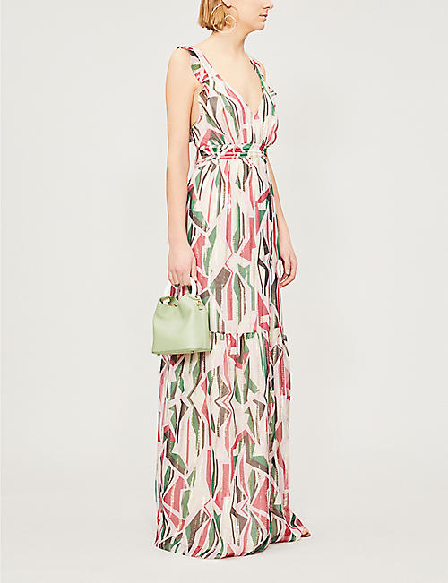 BA&SH Betty chiffon dress