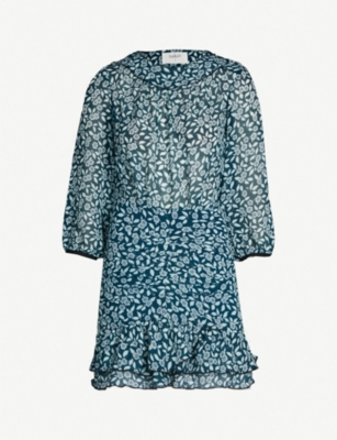 BA&SH Billy floral-print woven dress