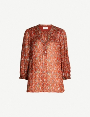 BA&SH Colline woven metallic blouse