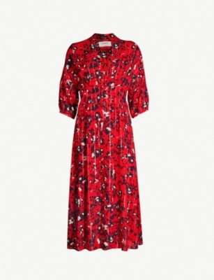 BA&SH Elfe floral-print woven midi dress