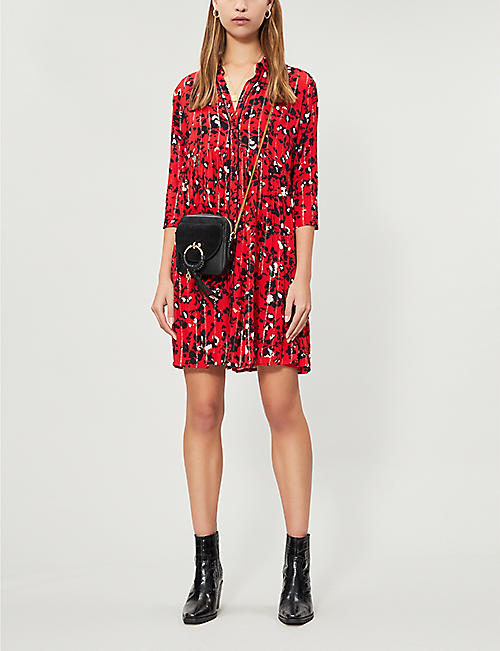 BA&SH Erine floral print shirt dress