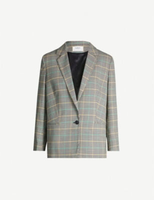 BA&SH Ginger checked crepe blazer