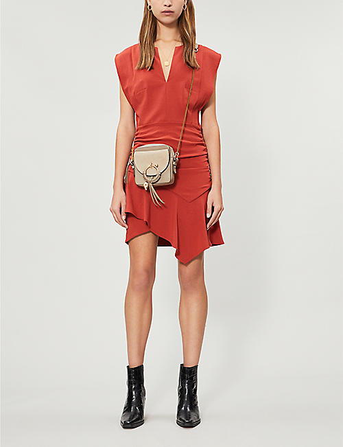 BA&SH Jess ruched sleeveless mini dress