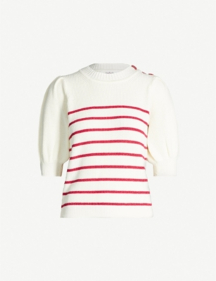BA&SH Nellie metallic-stripe knitted top