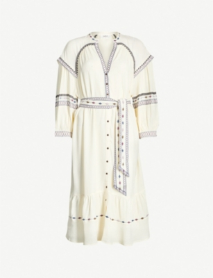 BA&SH Patty embroidered woven dress