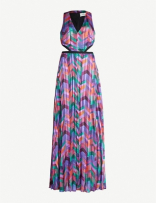 BA&SH Pia geometric-print woven maxi dress