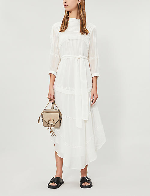 BA&SH Chiffon long-sleeved dress