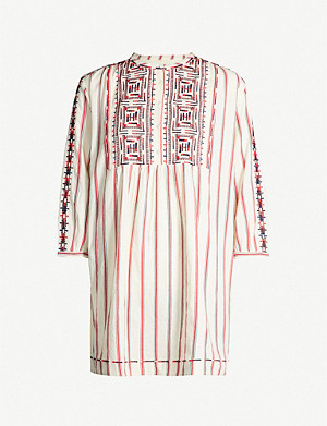 BA&SH Rosa embroidered cotton dress