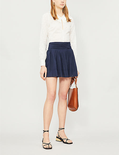 BA&SH Irine pleated cotton skirt