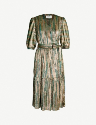 BA&SH Star striped woven dress
