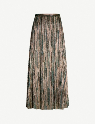 BA&SH Suzon high-rise metallic midi skirt