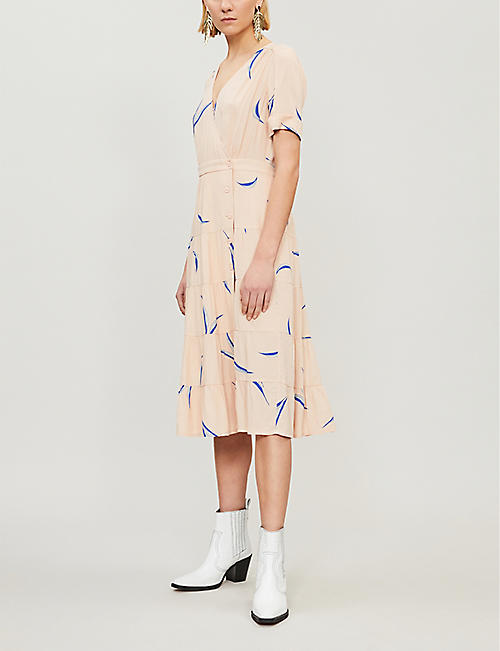 BA&SH Tais botanical-print crepe dress