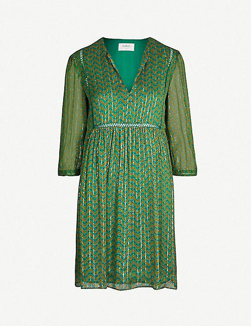 ceb6d07f53 BA SH Willow metallic georgette mini dress